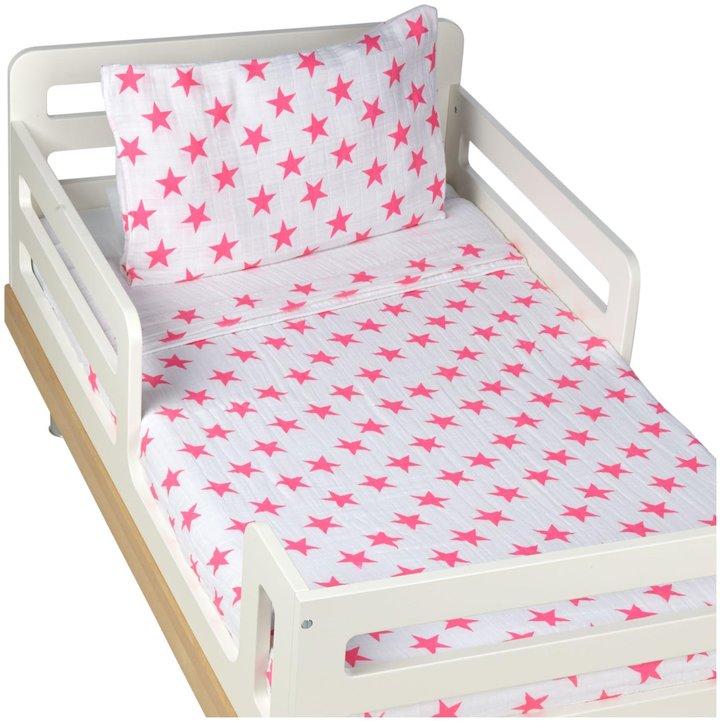 Aden Anaisaden + anais Classic Toddler Bed in a Bag- Fluro Pink