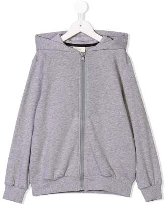 Fendi full-zipped logo hoodie