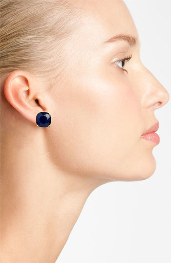 Women's Kate Spade New York Mini Small Square Semiprecious Stone Stud Earrings 4