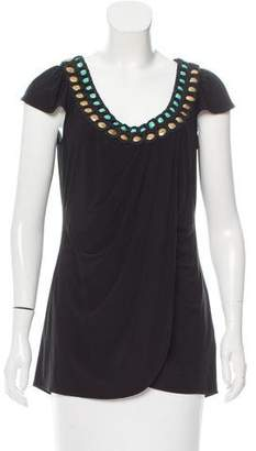 Alice by Temperley Embellished Cap Sleeve Top $50 thestylecure.com