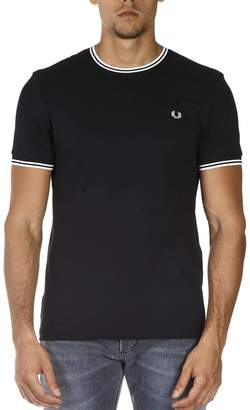 Fred Perry Black Cotton T-shirt