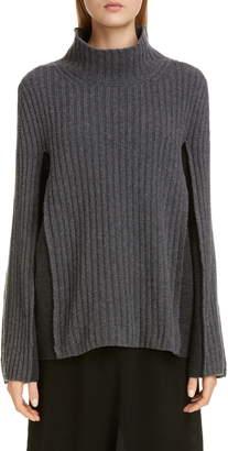 Maison Margiela Ribbed Bicolor Wool Blend Sweater