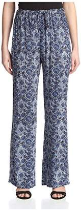 James & Erin Women's Printed Drawstring Pant