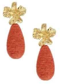 Lizzie Fortunato Citrus 18K Goldplated Cord Drop Earrings