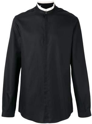 Dolce & Gabbana contrast mandarin collar shirt