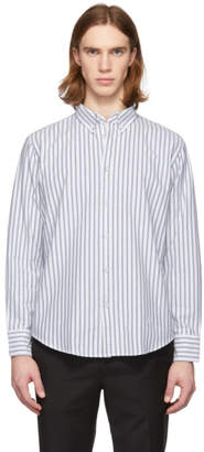 Rag & Bone Indigo and White Oxford Fit 2 Tomlin Shirt