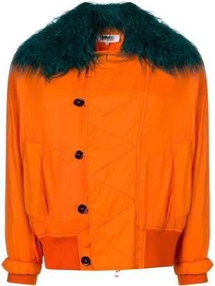 MM6 MAISON MARGIELA faux fur bomber jacket