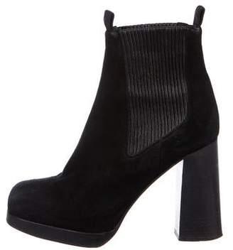 Acne Studios Suede Platform Ankle Boots