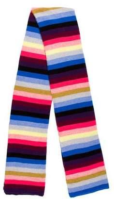 White + Warren Bold Striped Knit Shawl