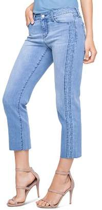 Liverpool Bryce Embroidered Crop Straight Jeans in Devonshire
