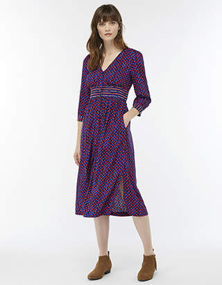 Jamie Print Midi Dress
