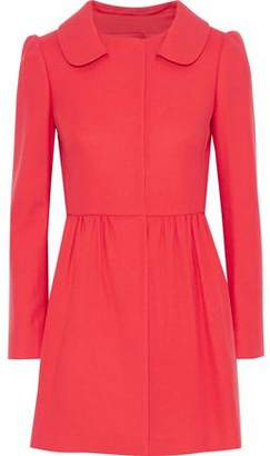 RED Valentino Pleated Wool-Blend Coat