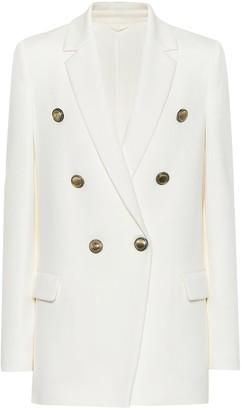 Brunello Cucinelli Cotton-blend double-breasted blazer