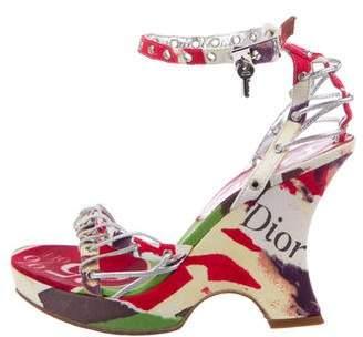 Christian Dior Punk Print Wedges