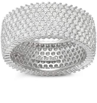 Sterling Silver CZ Pave Eternity Band Ring