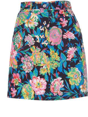 MSGM Tropical Jungle Print Mini Skirt