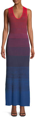 Elizabeth and James Winona Ribbed Degrade Ribbed Maxi Dress