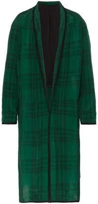 Haider Ackermann long check robe coat