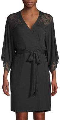 Eberjey Petunia Lace-Trimmed Kimono Robe