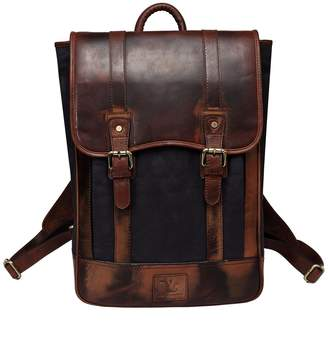 Vicenzo Leather Montreal Canvas Leather Backpack