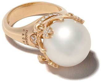 Pasquale Bruni 18kt rose gold Sissi pearl diamond ring