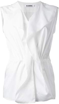 Jil Sander sleeveless ruffle blouse
