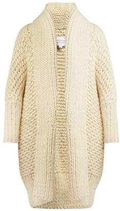 I Love Mr Mittens - Chunky Knit Wool Cardigan - Womens - Cream