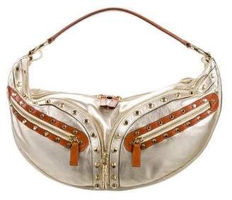 Versace Metallic Leather Hobo