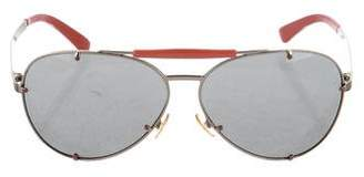 Valentino Tinted Aviator Sunglasses