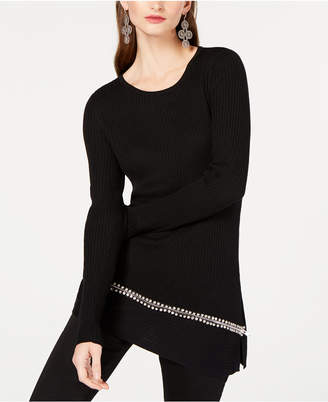 INC International Concepts I.N.C. Asymmetrical Embellished Tunic, Created for Macy's