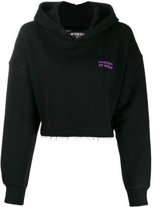 Misbhv oversized cropped hoodie