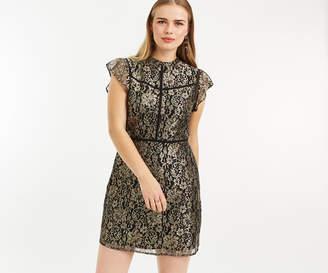 Oasis METALLIC SHIFT DRESS