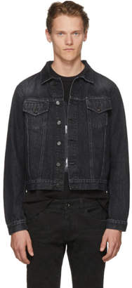 Marcelo Burlon County of Milan Black Vintage Wash Denim Jacket