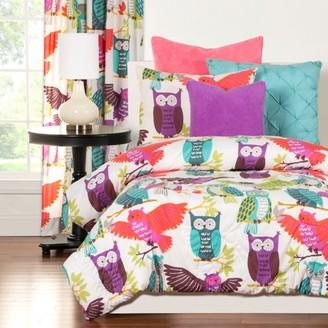 Crayola Owl Always Love You Full/Queen Comforter Set