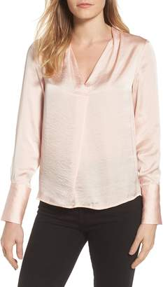 Kenneth Cole New York Crinkle Long Sleeve Blouse