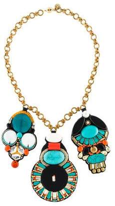 Ranjana Khan Skull Chain Collar Necklace