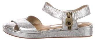 Marc by Marc Jacobs Leather Metallic Sandals
