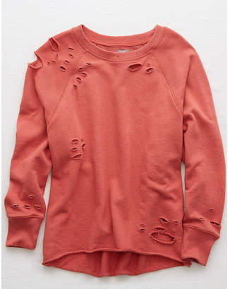 aerie Distressed City Sweatshirt