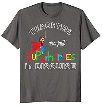 DAY Birger et Mikkelsen Teachers Are Superheroes Funny T-Shirt First of School