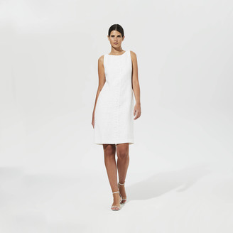 Karl Lagerfeld Paris Lace Front Tweed Shift Dress