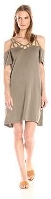 Michael Stars Women's Cotton Modal Scoop Neck Goddess Dress