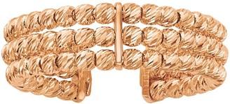 Italian Gold Three-Row Adjustable Beaded Band Ring, 14K