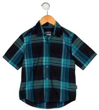 Patagonia Boys' Plaid Button-Up Shirt