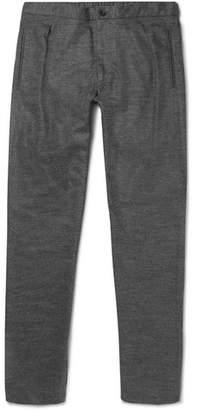 Camoshita Slim-Fit Pleated Mélange Wool-Blend Trousers