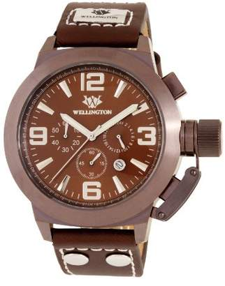 WELLINGTON Men's Quartz Stainless Steel and Leather Dress Watch