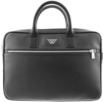 Giorgio Armani Emporio Briefcase Bag Black