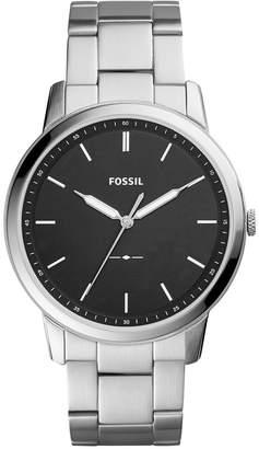 Fossil Men The Minimalist Stainless Steel Bracelet Watch 44mm FS5307