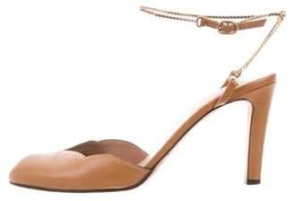 Valentino Round-Toe Ankle Strap Pumps