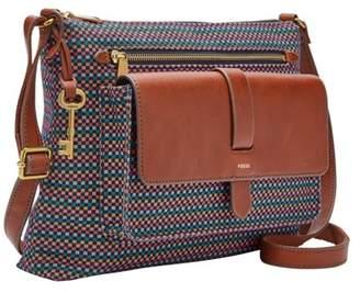 Fossil Kinley Crossbody Handbag Teal Brown
