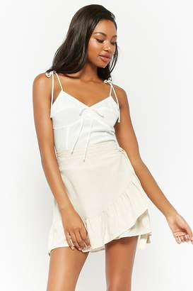 Forever 21 Smocked Self-Tie Cami